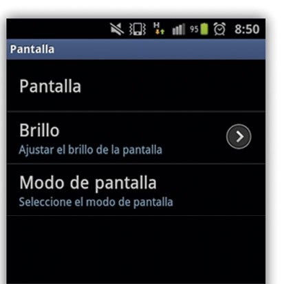 Ajuste brillo en Android