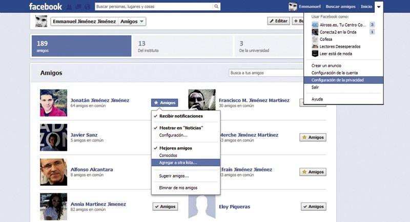Facebook configurar perfil 2