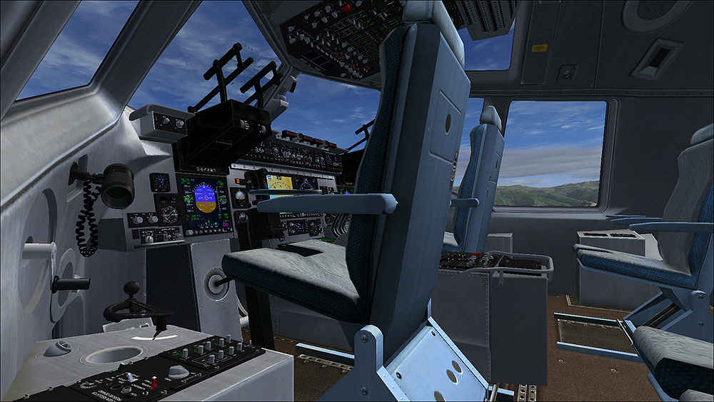 The plane can carry large combat equipment, troops and humanitarian. C17 Globemaster III (FSX)