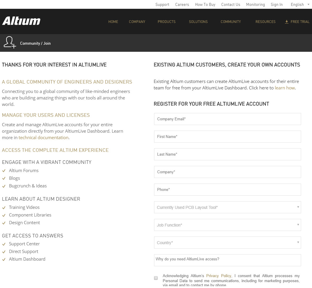 hight resolution of create a free account on altium live site