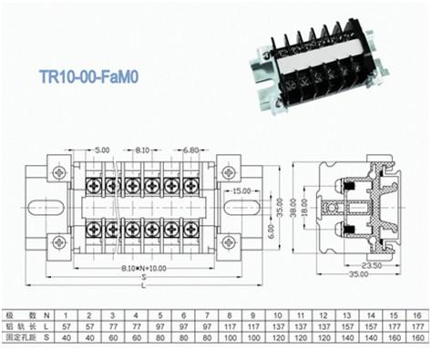 Single Level PCB Rail Mounted Terminal Blocks Connectors