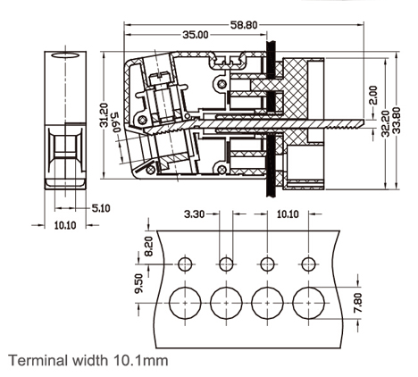 Terminal Blocks Electrical Wiring Diagram, Terminal, Free