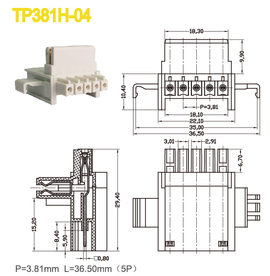 10A Male And Female Power Distribution Terminal Block