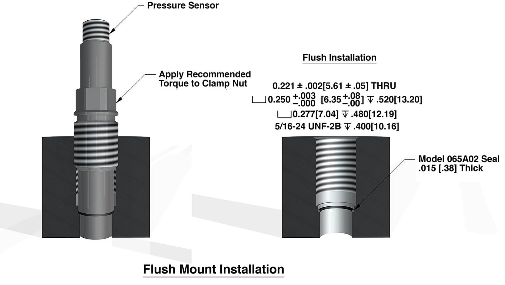 hight resolution of figure 5 typical recessed mount for 113b pressure sensor series