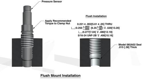 small resolution of figure 5 typical recessed mount for 113b pressure sensor series