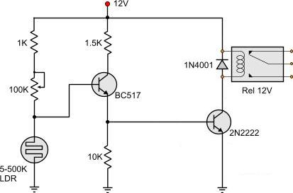 Ldr Circuit Diagram With Relay