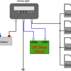 Car Capacitor Wiring Diagram Audio Phone Jack Dsl Dome Light Off-delay