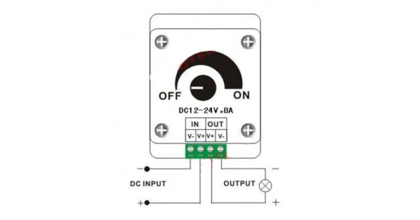 Low Voltage LED Dimmer for LED, LED Bulbs and LED Ribbons