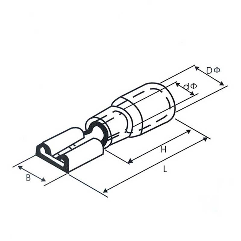 Female Spade Quick-Connect Terminal .187 inch (4.8mm)