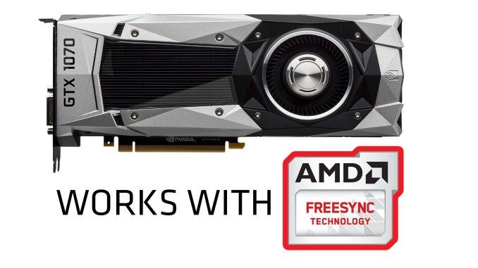 Nvidia GTX 1070 AMD Freesync
