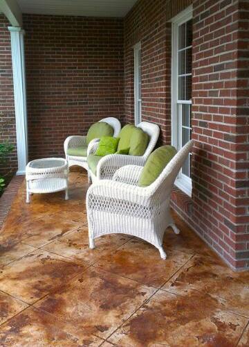 concrete patio design ideas epoxy