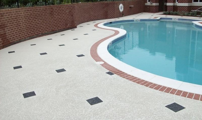 concrete pool deck resurfacing spray