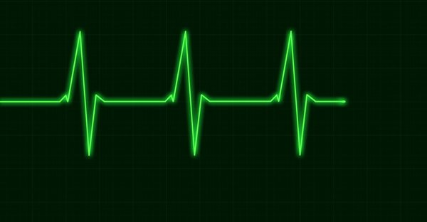 green heart beat graphic