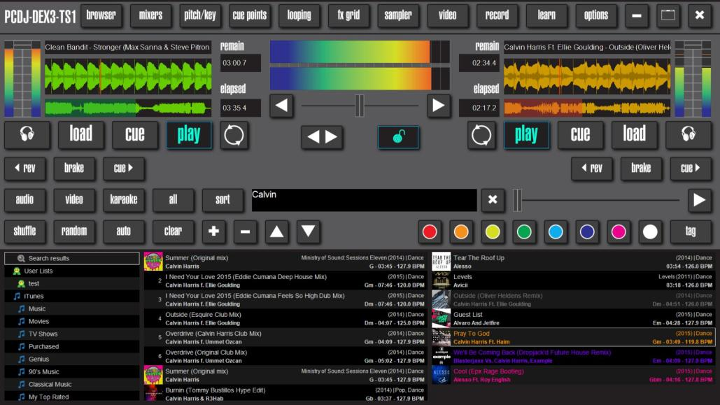 DJ Software Skins | Turn DEX 3 Into Touch Screen DJ Software