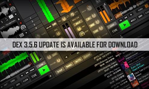 DJ and VJ Software DEX 3.5.6 Update