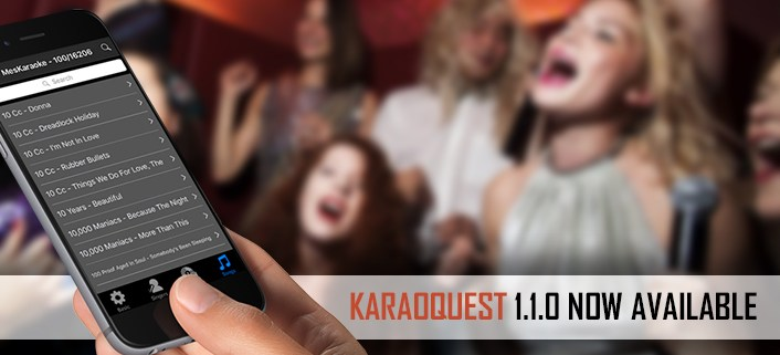 KaraoQuest Mobile Request App Update 1.1.0