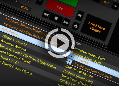 karaoke software filler music player modes