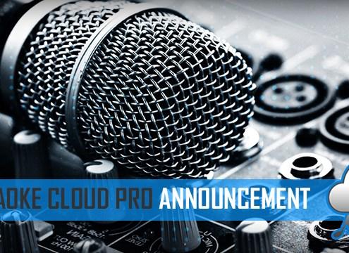 Karaoke Cloud Pro karaoke backing tracks announcement