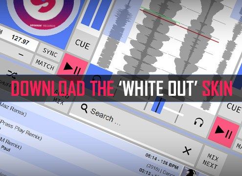 DEX 3 White Out Skin For DJ Mixing Software