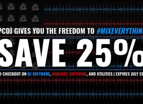 Save 25% on PCDJ Software Through July 5th
