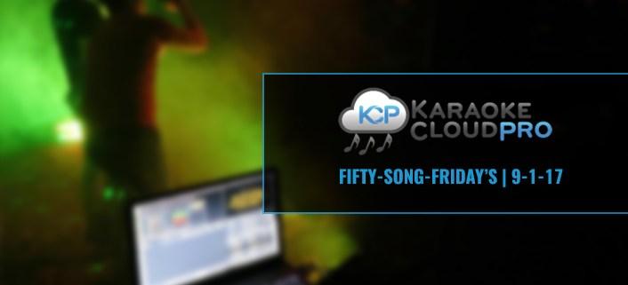 50 new karaoke songs for download 9-1-17