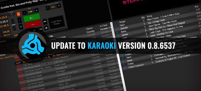 Update To Karaoki Version 0.8.6537