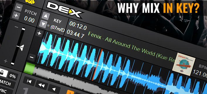 mixing music in key with DEX 3