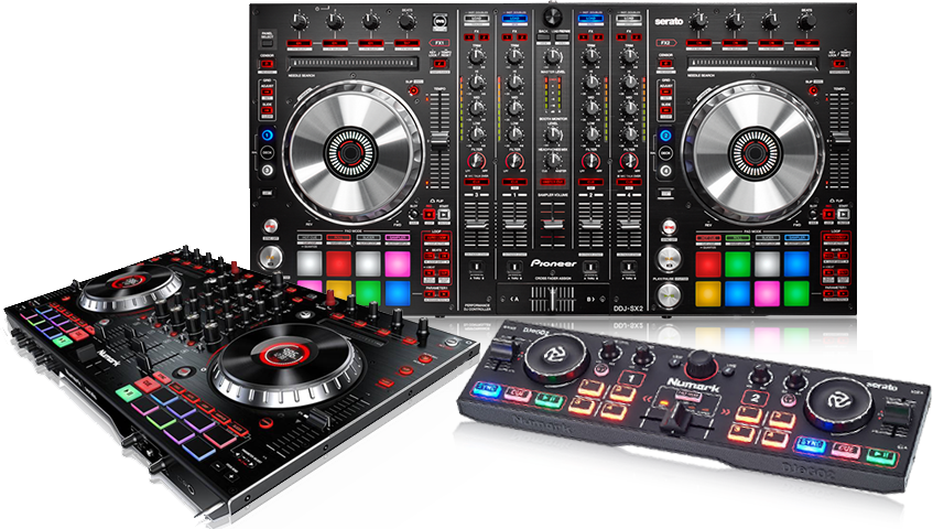 DJ controllers supported by DEX 3 DJ software