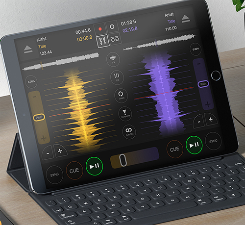 DJ DEX app for the iPad