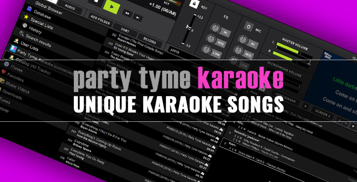 Another Reason to Subscribe to Party Tyme -- Unique Karaoke Songs