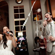 karaoke at a wedding