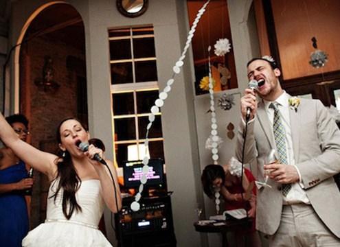 karaoke at a wedding