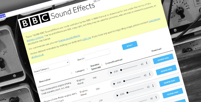 Need to Download Free Sound Effects? BBC has you Covered
