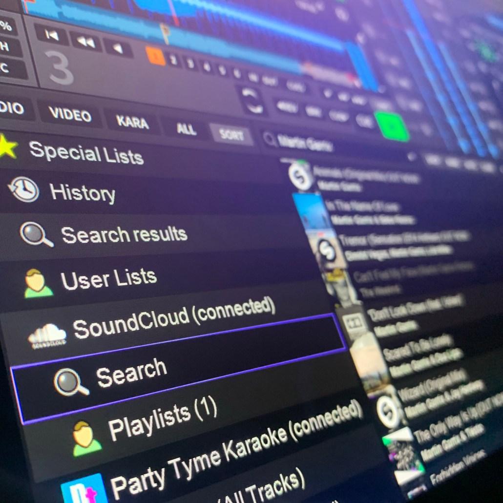 SoundCloud Go+ in DEX 3 DJ Software