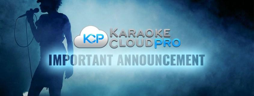 Karaoke Cloud Pro announcement
