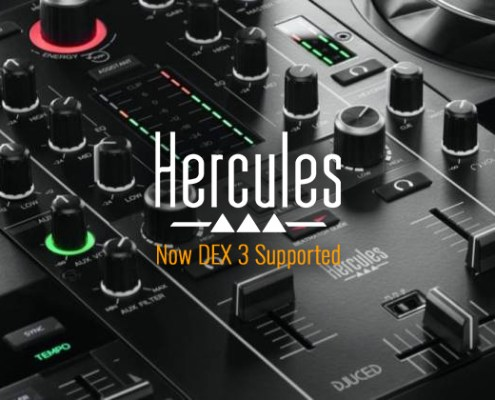 Hercules DJControl Inpulse 500 now DEX 3 DJ Software Supported