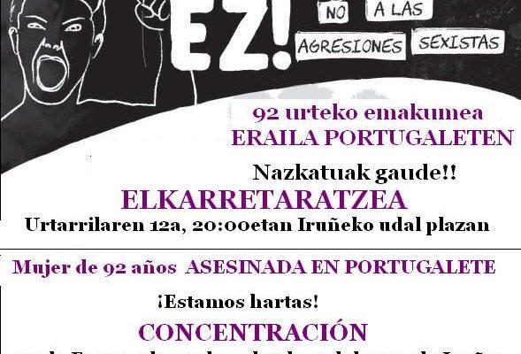 Repulsa por el último feminicidio sucedido en Portugalete