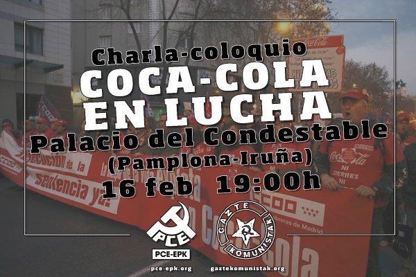 Charla coloquio con trabajadores del Conflicto de Coca-Cola