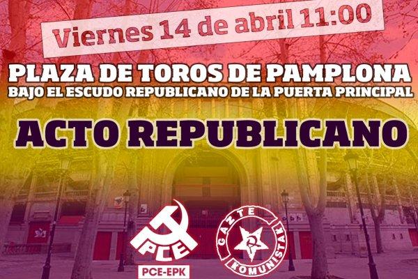 Vídeo del acto republicano en Pamplona-Iruñea 14 de abril 2017 por el PCE-EPK y Gazte Komunistak