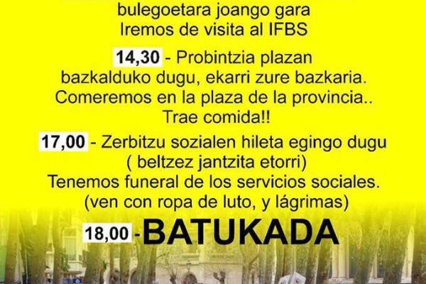 Movilizaciones por un convenio digno de intervención social.