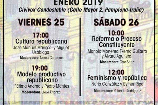 Comienzan las Jornadas Republicanas en Navarra