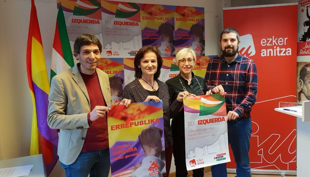 Ezker Anitza-IU y PCE-EPK anuncian actos conmemorativos por la Segunda República en los que participará Alberto Garzón