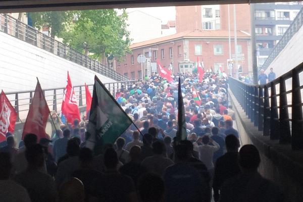 La huelga en el sector del metal de Bizkaia ha sido un claro éxito y una demostración de músculo de la clase trabajdora.