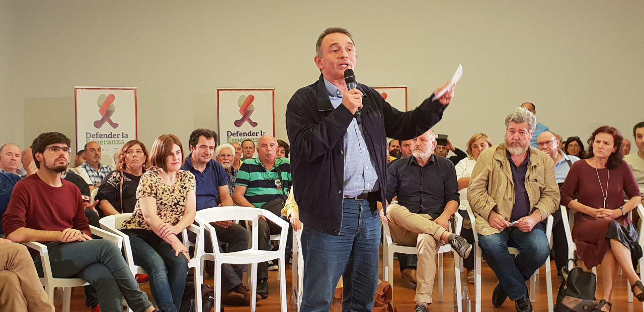 """Enrique Santiago, SG del PCE participó en el día de ayer en un acto de Unidas Podemos en Bilbao. «el PSOE debe decidir si está del lado de la mayoría trabajadora o de la patronal"""""""