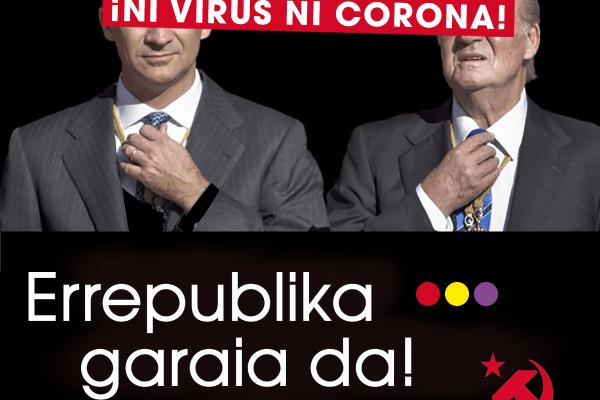 Manifiesto del Partido Comunista ante el 89 Aniversario de la II República. Ni virus ni corona. Es tiempo de República.