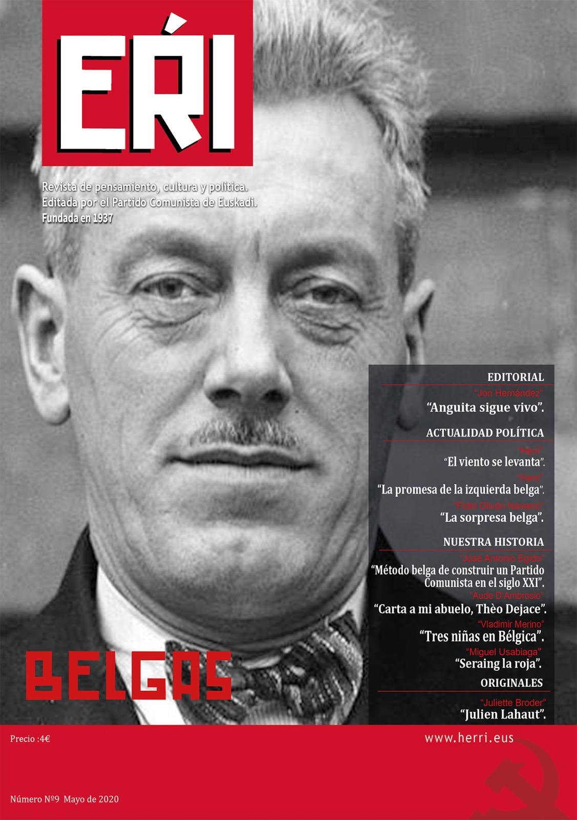 Ya está en los kioscos el número 9 de EŔI, revista de pensamiento, cultura y política editada por el Partido Comunista de Euskadi.