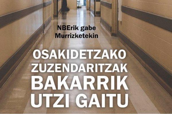 El PCE-EPK respalda las movilizaciones sindicales en Osakidetza y critica el modelo del Gobierno Vasco basado en la temporalidad y en las externalizaciones.