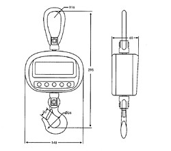 Hanging Scale PCE-CS 300-ICA incl. ISO Calibration