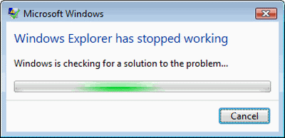 Fix Windows Explorer crash