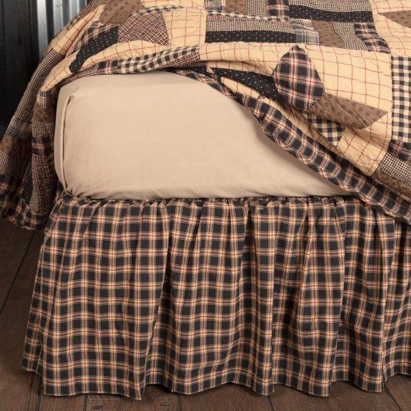 Bingham Star Twin Bed Skirt 39x76x16 Mayflower Market - Vhc Brands